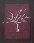Lone Tree Painting Prints - Tree of Wisdom Print by Kelvin Kelley