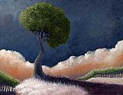 Horizon Paintings - Tree over the Big Black by Ethan Harris
