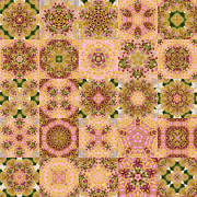 Quilts Digital Art - Tree Peony Block Quilt by Tracy Pierceall