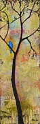 Zen Paintings - Tree Print Triptych Section 3 by Blenda Tyvoll