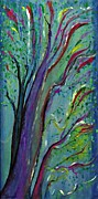 Multicolor Paintings - Tree by Sarah Loft