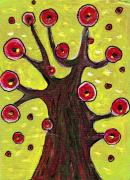Abstract Jewelry Prints - Tree Sentry Print by Anastasiya Malakhova
