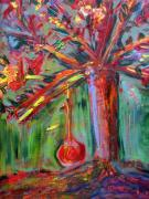 Swing Paintings - Tree Swing by Rebecca Worters