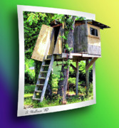 Sfx Photo Prints - Treehouse Fort Print by Brian Wallace
