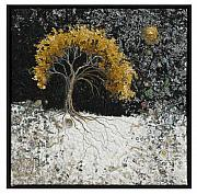 Stars Tapestries - Textiles - Trees I Have Seen 1 by Lorraine Roy