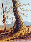 Tn Painting Prints - Trees in Fall II Print by Todd A Blanchard