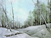 Snow Drifts Pastels - Trees in Winter #2 by Robin Miller-Bookhout