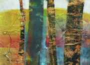 Oregon Mixed Media - Trees by Melody Cleary