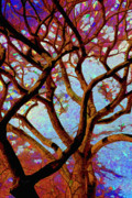 Digital Art Prints - Trees of Another Color Print by Robert Ullmann