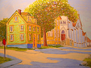 Street Scene Pastels - Tremont St. Lunenburg by Rae  Smith PSC