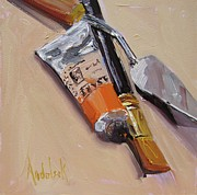 Tubes Paintings - Tres Amigo by Barbara Andolsek