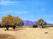 Sea Of Cortez Paintings - Tres Arboles by Russell McCrackin