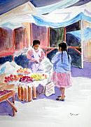 Peru Paintings - Tres Dolares Por Favor by Marsha Elliott