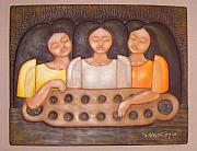 Bas Relief Sculpture Reliefs - Tres Marias by Rodney Martinez