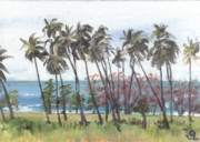 Puerto Rico Painting Framed Prints - Tres Palmas Framed Print by Sarah Lynch