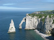Water Over Rock Photos - Étretat by Carol Castro