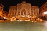 Acqua Posters - Trevi Fountain at Night Poster by George Oze