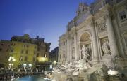 Urban Scene Art - Trevi Fountain In Rome, Italy by Richard Nowitz