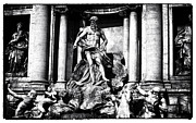 And Posters Prints - Trevi Fountain Statues Print by John Rizzuto