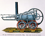 Trevithick Framed Prints - Trevithicks Locomotive Framed Print by Granger