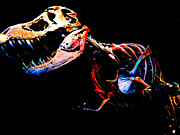 T Rex Drawings Posters - Trex Poster by Howard Perry