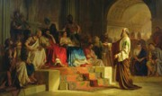 Trial Of The Apostle Paul Print by Nikolai K Bodarevski