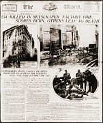 Front Page Framed Prints - Triangle Shirtwaist Company Fire Framed Print by Everett