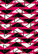 Geometric Prints - Triangles Print by Louisa Knight