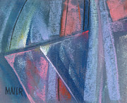 Artwork Pastels - Triangular Abstract by Donald Maier