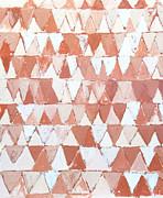 Triangular Sepia And White Waves Print by Kazuya Akimoto