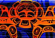 Native Art Digital Art - Tribal Council 3 by Randall Weidner