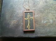 Cross Necklace Jewelry Originals - Tribal Cross Necklace by Brandon Allebach