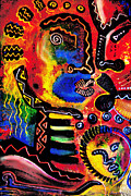 Family Love Painting Originals - Tribal family by  Kevin McDowell