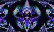 Digital Art Pastels Prints - Tribal fractal Print by Evelyn Patrick