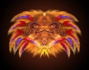 Ritchie Paul Dalto Art - Tribal Lion by Ritchie Dalto