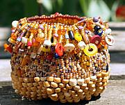 Basket Glass Art - Tribal Magic by Patricia Griffin Brett