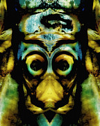 Fish In Art Framed Prints - Tribal Mask Framed Print by Skip Nall