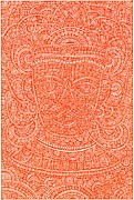 Indian Tribal Art Drawings - Tribal Mask - Vishnu by Purushottam Agashe