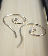 Sterling Silver Art - Tribal Spiral Earrings by Julie Kujawa