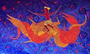 Tribal Art Gallery Paintings - Tribal Tales by Bhajju Shyam