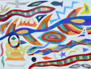 Tribal Visions Print by Charles McDonell