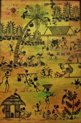 Warli Paintings - Tribals I by Ivy Sharma