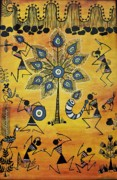 Warli Paintings - Tribals II by Ivy Sharma