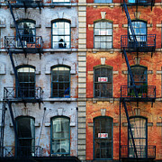 Nyc Fire Escapes Framed Prints - Tribeca Escapes Framed Print by Cornelis Verwaal
