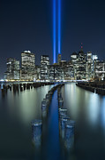 11 Wtc Framed Prints - Tribute In Light Framed Print by Evelina Kremsdorf
