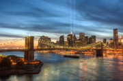 Brooklyn Bridge Prints - Tribute in Light I Print by Clarence Holmes
