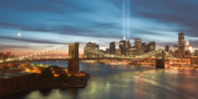 Brooklyn Bridge Photo Prints - Tribute in Light II Print by Clarence Holmes