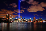 Nyc Skyline Framed Prints - Tribute In Light Framed Print by Rick Berk