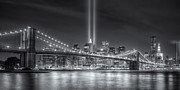 Brooklyn Bridge Posters - Tribute in Light VI Poster by Clarence Holmes