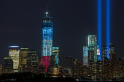 New York City Skyline Photos - Tribute in Light VII by Clarence Holmes